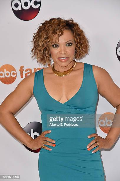 Actress Tisha CampbellMartin attends Disney ABC Television Group's 2015 TCA Summer Press Tour at the Beverly Hilton Hotel on August 4 2015 in Beverly...