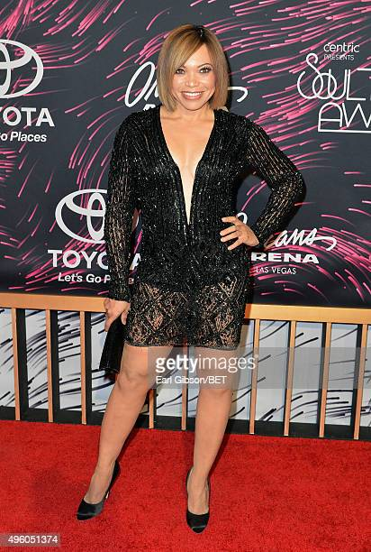 Actress Tisha CampbellMartin attends the 2015 Soul Train Music Awards at the Orleans Arena on November 6 2015 in Las Vegas Nevada