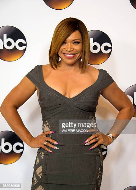 Actress Tisha CampbellMartin attends The 2016 Disney ABC Television Group TCA Summer Press Tour in Beverly Hills California on August 4 2016 / AFP /...