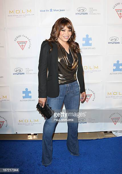 Actress Tisha CampbellMartin attends the Autism Speaks 'Blue Tie Blue Jean Ball' at The Beverly Hilton Hotel on November 29 2012 in Beverly Hills...