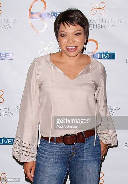 Actress Tisha Campbell-Martin attends the free concert for Complexions contemporary ballet hosted by Debbie Allen at Rave Theater on September 30,...
