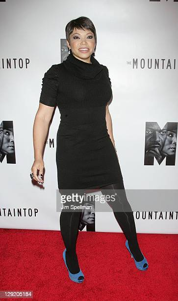 Actress Tisha CampbellMartin attends The Mountaintop Broadway opening night at The Bernard B Jacobs Theatre on October 13 2011 in New York City