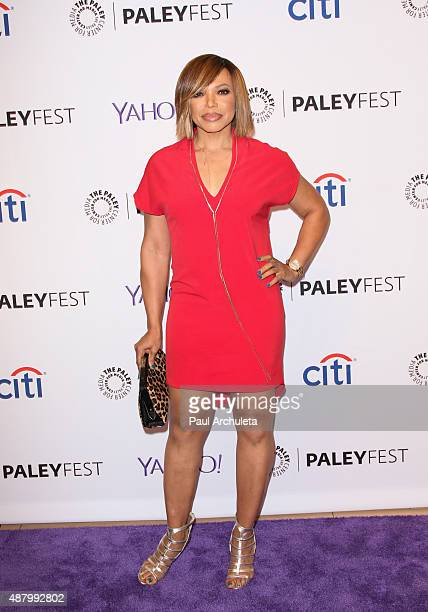 Actress Tisha CampbellMartin attends the PaleyFest 2015 Fall TV Preview for ABC at The Paley Center for Media on September 12 2015 in Beverly Hills...