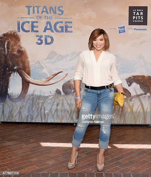 Actress Tisha CampbellMartin attends the Titans of the Ice Age Premiere at La Brea Tar Pits and Museum on June 20 2015 in Los Angeles California