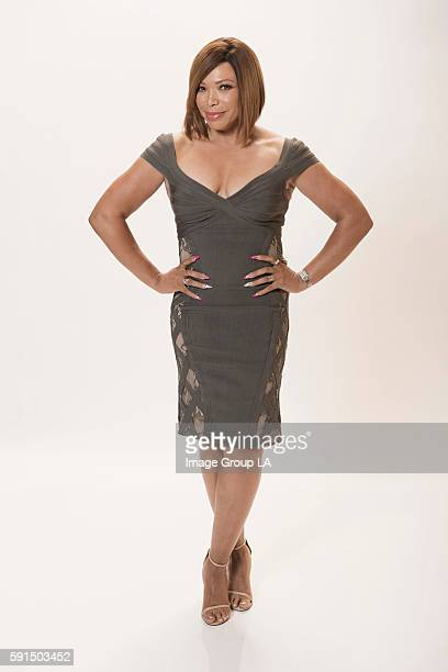Actress Tisha CampbellMartin poses for a portraits at the Beverly Hills Ballroom of The Beverly Hilton in Beverly Hills at Disney | ABC Television...