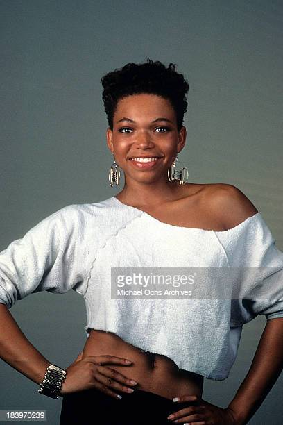 Actress Tisha CampbellMartin poses for the movie Roof tops in 1989