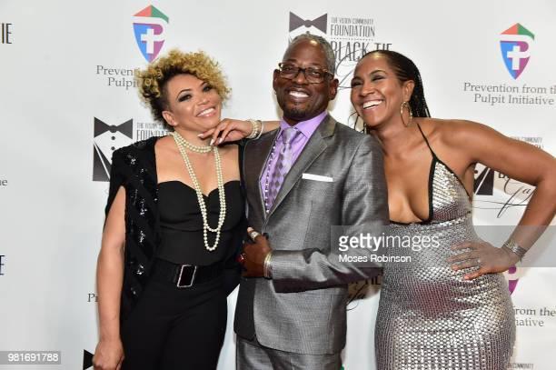Actress Tisha CampbellMartinactor TC Carson and Terri J Vaughn attend Vision Community Foundation 7th Annual Vision Community Foundation BlackTie...