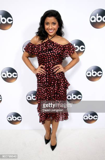 Actress Tiya Sircar attends Disney ABC Television Group's TCA Winter Press Tour 2018 at The Langham Huntington Pasadena on January 8 2018 in Pasadena...