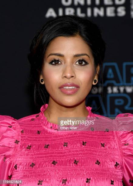 """Actress Tiya Sircar attends the premiere of Disney's """"Star Wars: The Rise of Skywalker"""" on December 16, 2019 in Hollywood, California."""