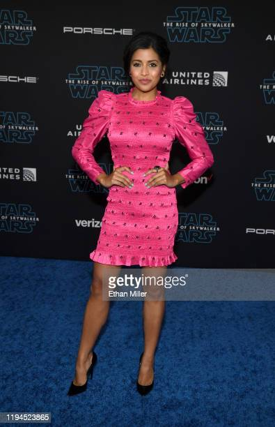 "Actress Tiya Sircar attends the premiere of Disney's ""Star Wars: The Rise of Skywalker"" on December 16, 2019 in Hollywood, California."