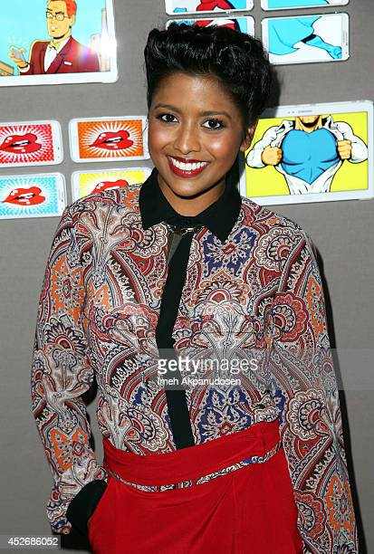 Actress Tiya Sircar attends the Samsung Galaxy VIP Lounge at Comic-Con International 2014 at Hard Rock Hotel San Diego on July 25, 2014 in San Diego,...