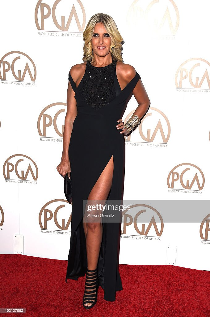 Actress Tiziana Rocca attends the 26th Annual Producers Guild Of America Awards at the Hyatt Regency Century Plaza on January 24, 2015 in Los Angeles, California.