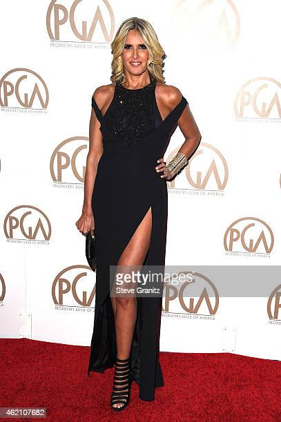 Actress Tiziana Rocca attends the 26th Annual Producers Guild Of America Awards at the Hyatt Regency Century Plaza on January 24 2015 in Los Angeles...