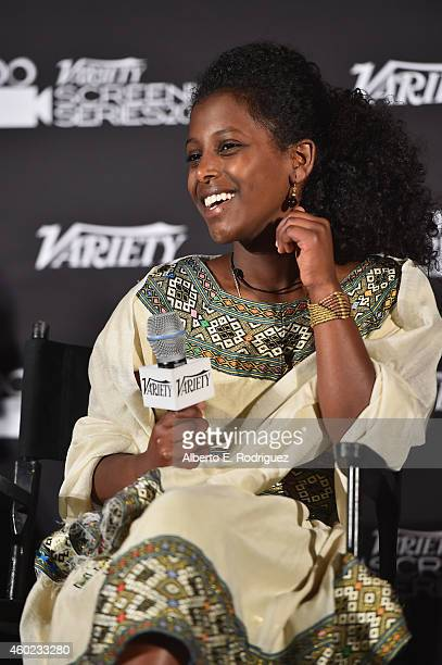 Actress Tizita Hagere attends the 2014 Variety Screening Series of Difret at ArcLight Hollywood on December 9 2014 in Hollywood California