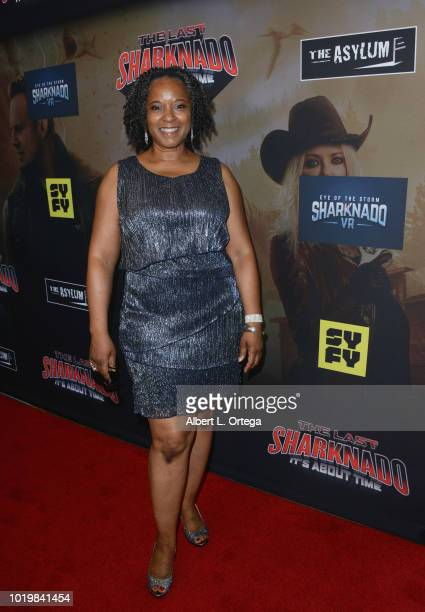 Actress T'Keyah Crystal Keymah arrives for the Premiere Of The Asylum And Syfy's 'The Last Sharknado It's About Time' held at Cinemark Playa Vista on...