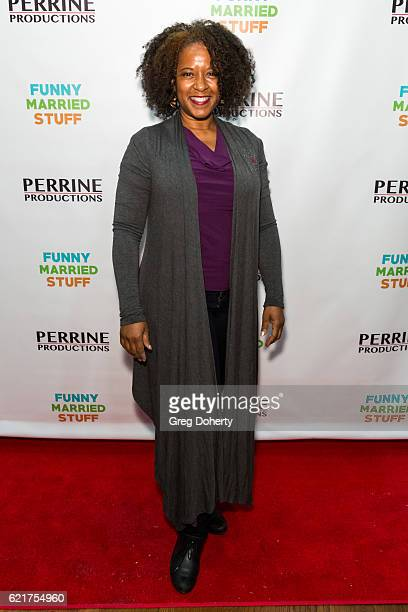 Actress T'Keyah Crystal Keymah arrives for the Screening Of Perrine Productions' 'Funny Married Stuff' at the ACME Comedy Theatre on November 7 2016...