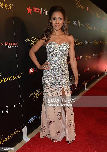 Actress Toks Olagundoye arrives to the 39th Gracie Awards Gala at The Beverly Hilton Hotel on May 20 2014 in Beverly Hills California