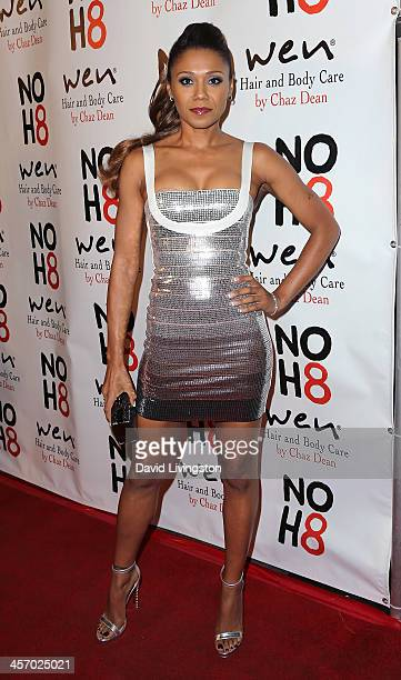 Actress Toks Olagundoye attends the NOH8 Campaign 5th Anniversary Celebration at Avalon on December 15 2013 in Hollywood California