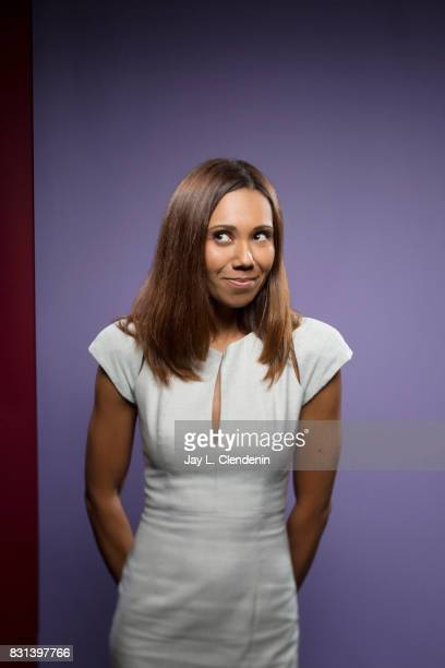 Actress Toks Olagundoye from the television series DuckTales is photographed in the LA Times photo studio at ComicCon 2017 in San Diego CA on July 21...