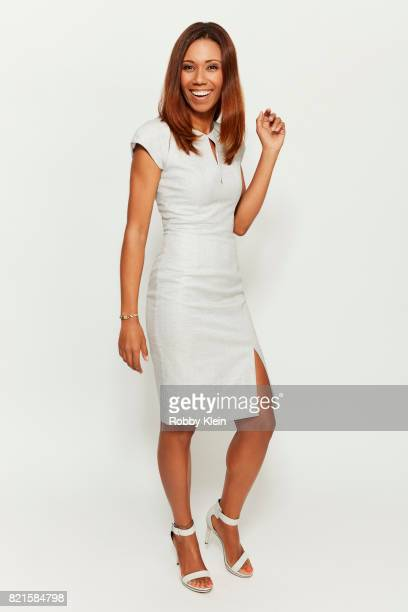 Actress Toks Olagundoye of Disney's 'DuckTales' pose for a portrait during ComicCon 2017 at Hard Rock Hotel San Diego on July 21 2017 in San Diego...