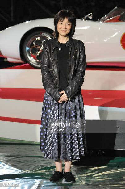 Actress Tomoko Fujita attends the Speed Racer Japan Premiere at Tokyo Dome on June 29 2008 in Tokyo Japan The film will open on July 5 2008 in Japan