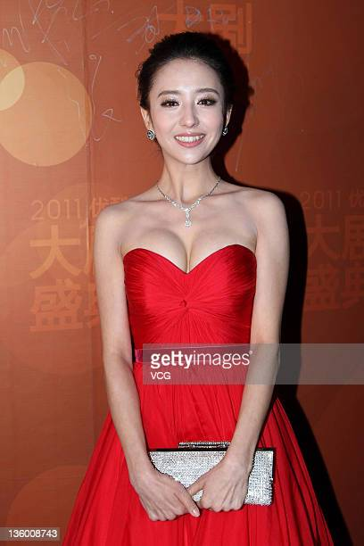 Actress Tong Liya attends the Youku Awards Ceremony at Renmin University on December 15 2011 in Beijing China