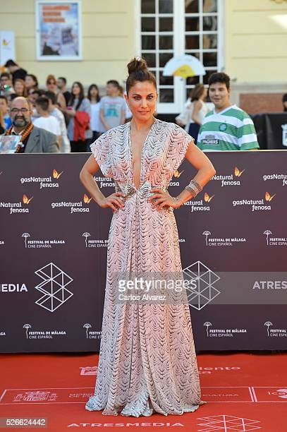 Actress Toni Acosta attends Nuestros Amantes premiere at the Cervantes Teather during the 19th Malaga Film Festival on April 30 2016 in Malaga Spain