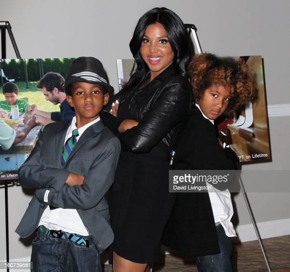 Actress Toni Braxton And Her Sons Denim Cole Braxton-Lewis