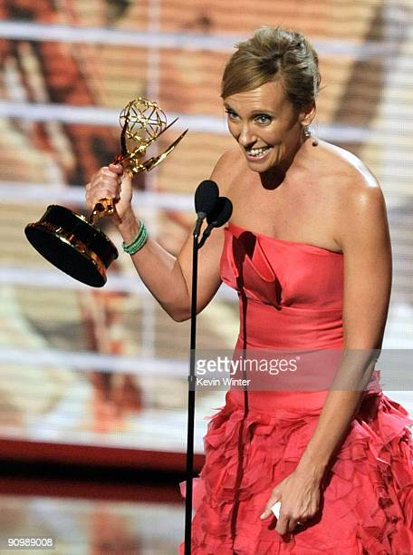 Actress Toni Collette accepts the Outstanding Lead Actress in a Comedy Series award for 'United States Of Tara' onstage during the 61st Primetime...