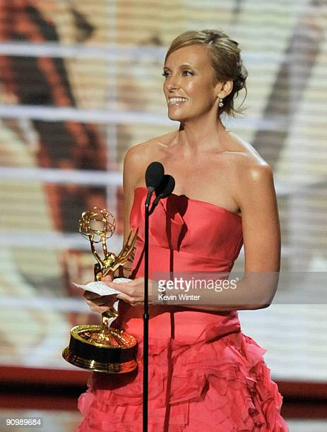 Actress Toni Collette accepts the Outstanding Lead Actress in a Comedy Series award for United States Of Tara onstage during the 61st Primetime Emmy...
