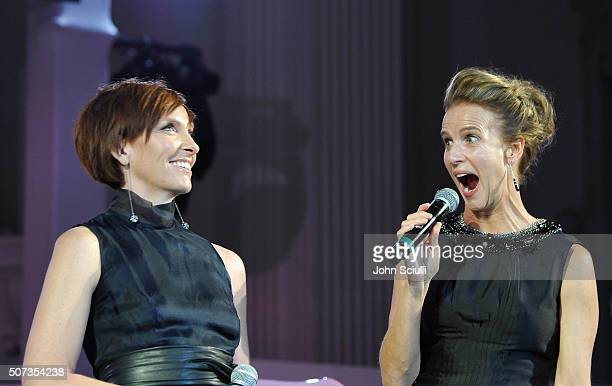 Actress Toni Collette and Rachel Griffiths host the G'Day USA 2016 Black Tie Gala at Vibiana on January 28 2016 in Los Angeles California