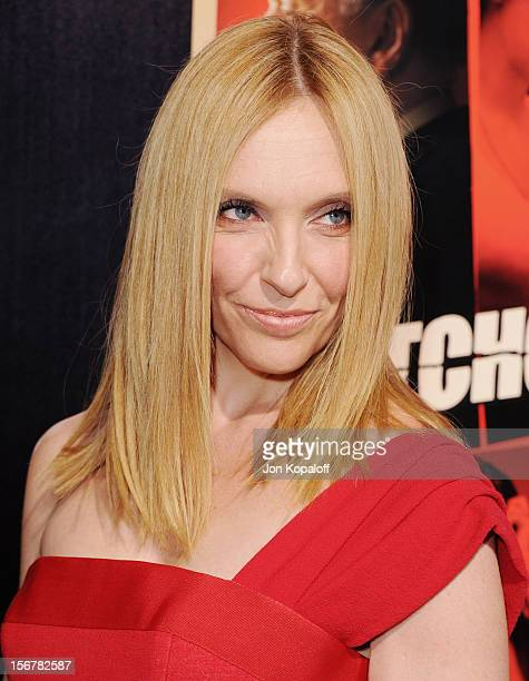 Actress Toni Collette arrives at the Los Angeles Premiere Hitchcock at AMPAS Samuel Goldwyn Theater on November 20 2012 in Beverly Hills California