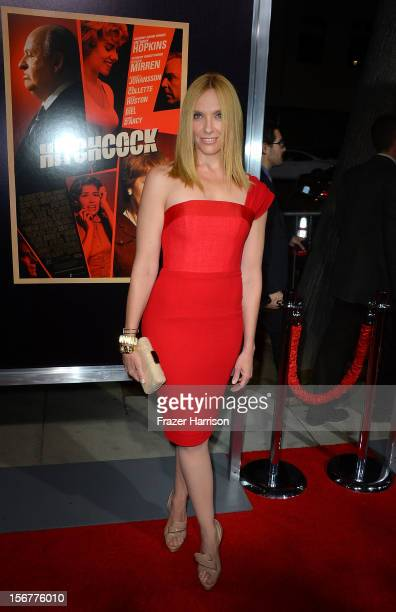 Actress Toni Collette arrives at the premiere of Fox Searchlight Pictures' Hitchcock at the Academy of Motion Picture Arts and Sciences Samuel...