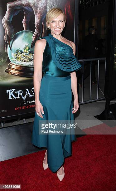 Actress Toni Collette arrives at the screening of Universal Pictures' 'Krampus' at ArcLight Cinemas on November 30 2015 in Hollywood California