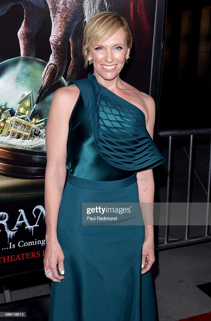 Actress Toni Collette arrives at the screening of Universal Pictures' 'Krampus' at ArcLight Cinemas on November 30, 2015 in Hollywood, California.