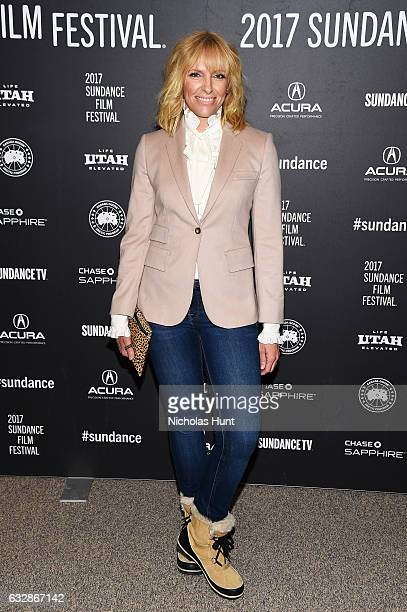 Actress Toni Collette attends Fun Mom Dinner Premiere during the 2017 Sundance Film Festival at Eccles Center Theatre on January 27 2017 in Park City...