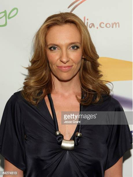 Actress Toni Collette attends the Australians In Film screening of 'United States of Tara' held at the Harmony Gold Theatre January 13 2009 in Los...