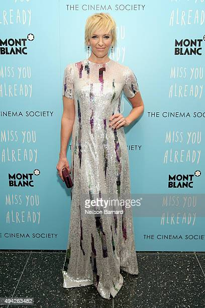 Actress Toni Collette attends the Montblanc The Cinema Society screening of Roadside Attractions Lionsgate's 'Miss You Already' at Museum of Modern...