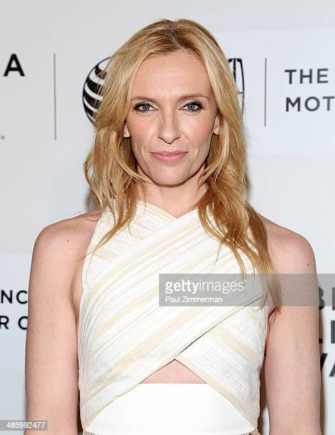 """Actress Toni Collette attends the screening of """"Lucky Them"""" during the 2014 Tribeca Film Festival at BMCC Tribeca PAC on April 21, 2014 in New York..."""