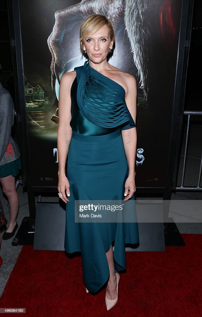 Actress Toni Collette attends the screening of Universal Pictures' 'Krampus' held at ArcLight Cinemas on November 30, 2015 in Hollywood, California.