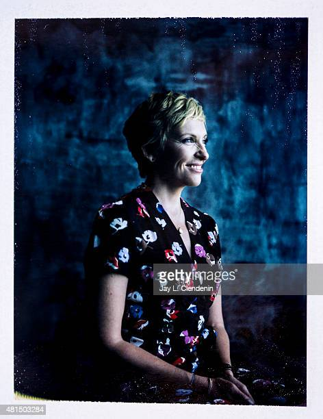 Actress Toni Collette of 'Krampus' is photographed on polaroid film at ComicCon International 2015 for Los Angeles Times on July 9 2015 in San Diego...