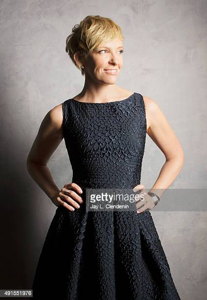 Actress Toni Collette of the film Miss You Already is photographed for Los Angeles Times on September 25 2015 in Toronto Ontario PUBLISHED IMAGE...