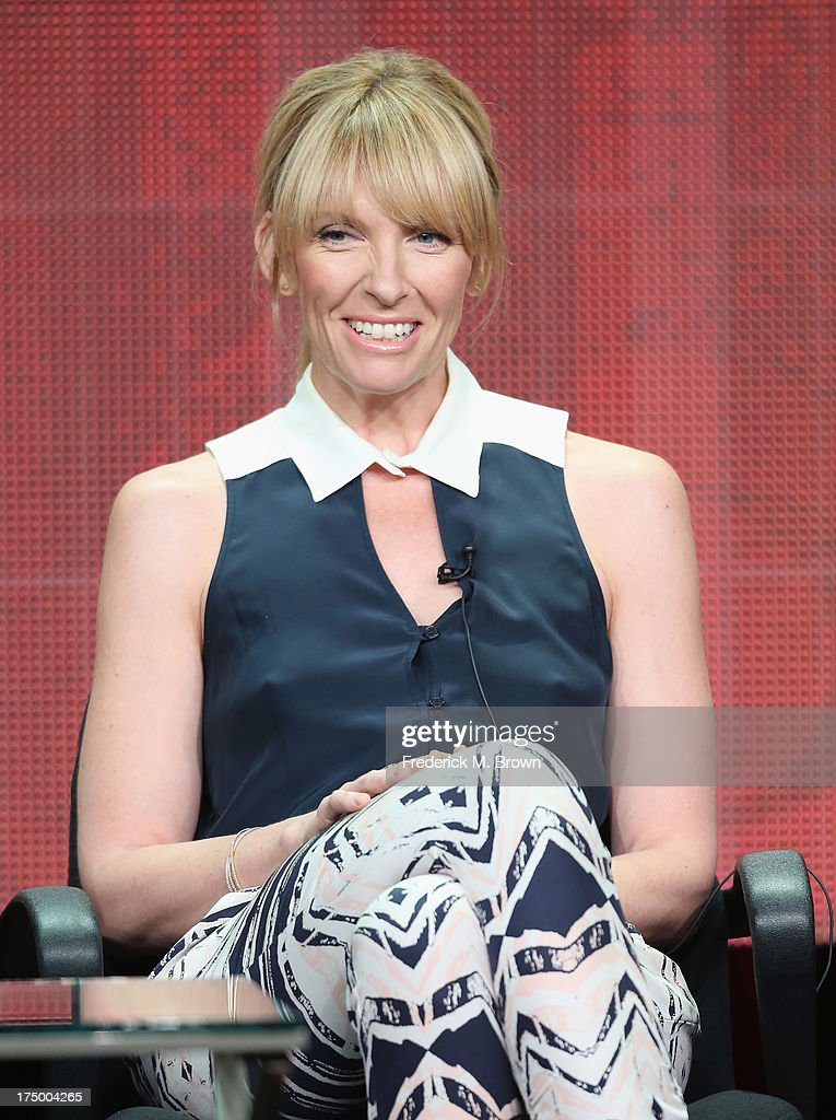 Actress Toni Collette speaks onstage during the 'Hostages' panel discussion at the CBS, Showtime and The CW portion of the 2013 Summer Television Critics Association tour at the Beverly Hilton Hotel on July 29, 2013 in Beverly Hills, California.