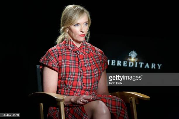 Actress Toni Collette visits 'The IMDb Show' on May 22 2018 in Los Angeles California This episode of 'The IMDb Show' airs on May 31 2018
