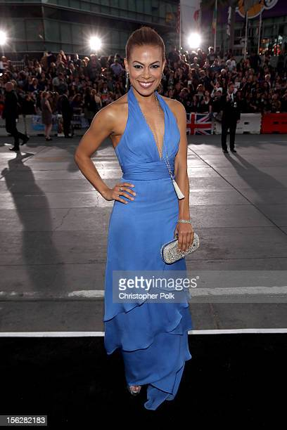 Actress Toni Trucks arrives at the premiere of Summit Entertainment's The Twilight Saga Breaking Dawn Part 2 at Nokia Theatre LA Live on November 12...