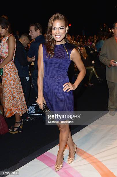 Actress Toni Trucks attends the Desigual Spring 2014 fashion show during MercedesBenz Fashion Week at The Theatre at Lincoln Center on September 5...