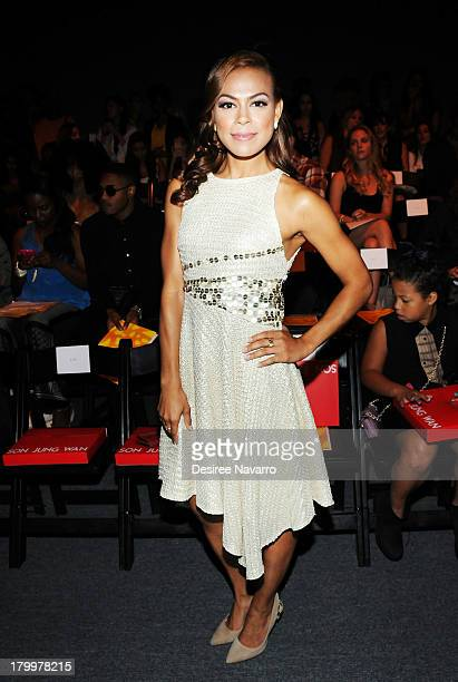 Actress Toni Trucks attends the Son Jung Wan show during Spring 2014 MercedesBenz Fashion Week at The Studio at Lincoln Center on September 7 2013 in...