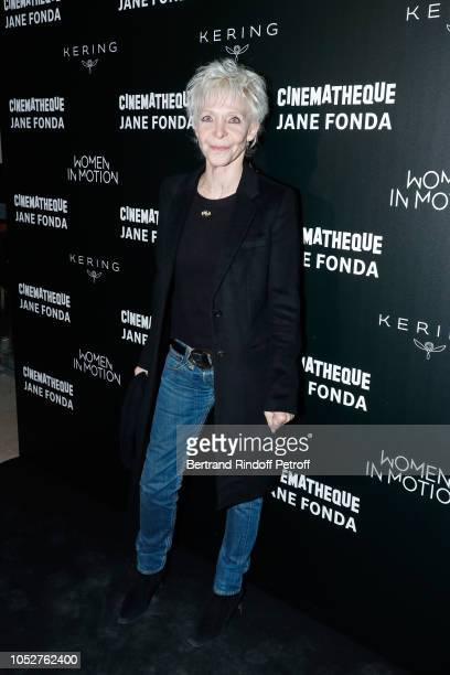 Actress Tonie Marshall attends the Kering Women in Motion Master Class With Jane Fonda at La Cinematheque Francaise at la cinematheque on October 22...