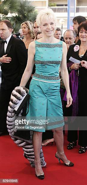 Actress Tonie Marshall attends the screening of Peindre Ou Faire L'Amour at the Palais during the 58th International Cannes Film Festival May 18 2005...
