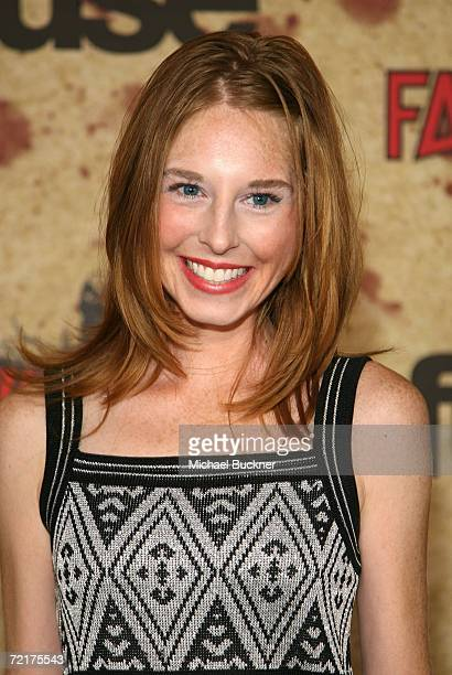 Actress Tonya Cornelisse attends the fuse Fangoria Chainsaw Awards at the Orpheum Theater on October 15 2006 in Los Angeles California The awards...